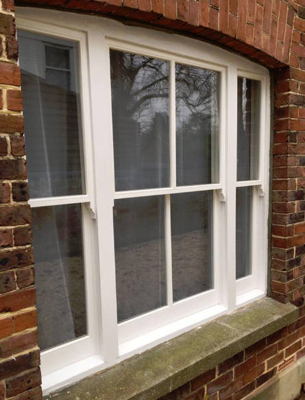 To avoid replacing the twisted and rotten timber back door we decided to repair the door with hardwood timber replacements where necessary while draught ... & Sash Window Restoration Tunbridge Wells - Expert Repairs